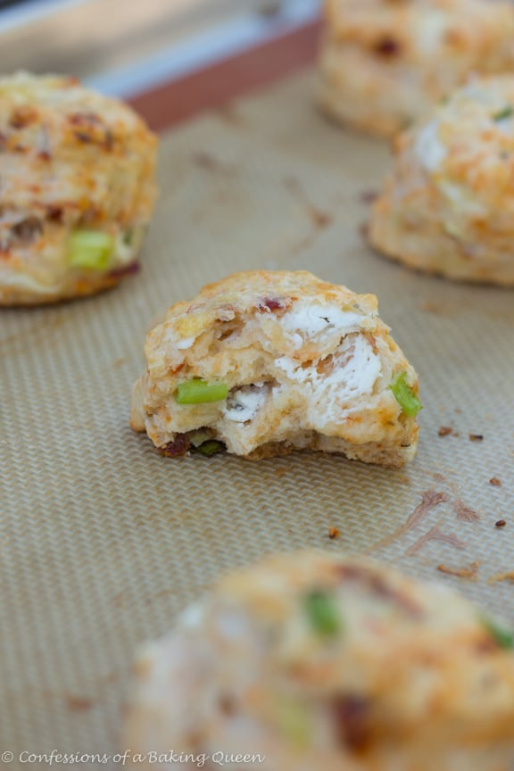Goat Cheese Chive & Sun Dried Tomato Scones www.confessionsofabakingqueen.com