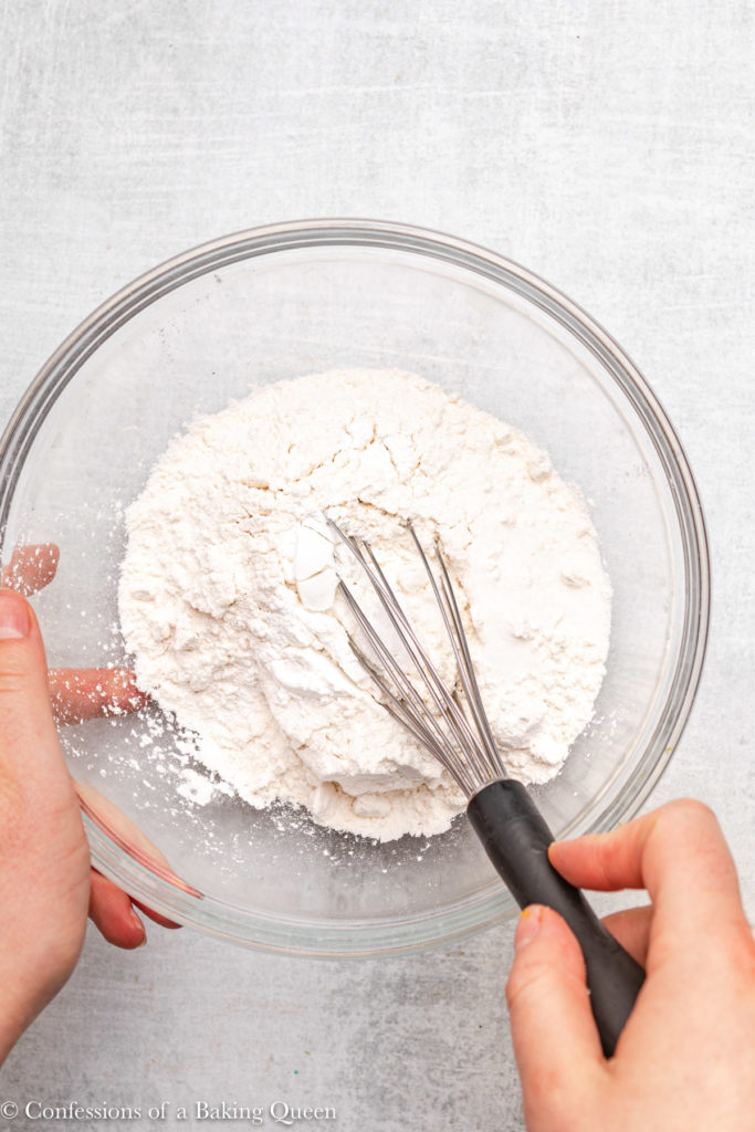 dry ingredients whisked together in a small glass bowl