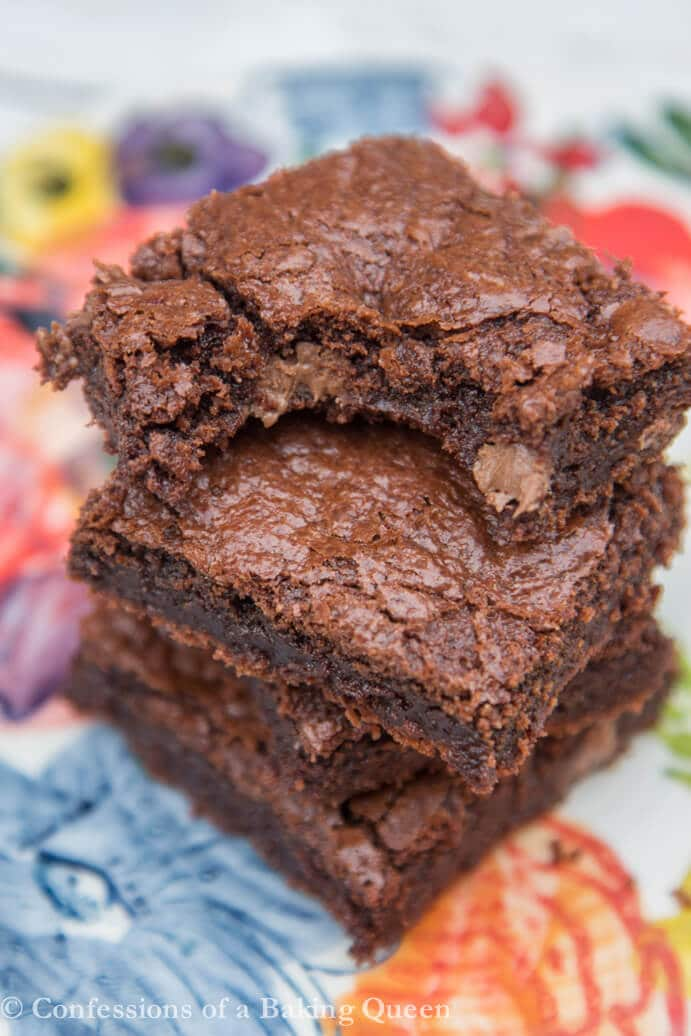 ... ll be digging for some of these Chewy Fudgy Brownies out of the pan