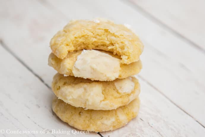 Chewy Lemon Cookies www.confessionsofabakingqueen.com