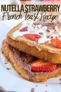 nutella strawberry french toast recipe