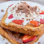 Nutella Strawberry French Toast www.confessionsofabakingqueen.com