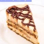Pumpkin Nutella Tiramisu Slice on a cream plate