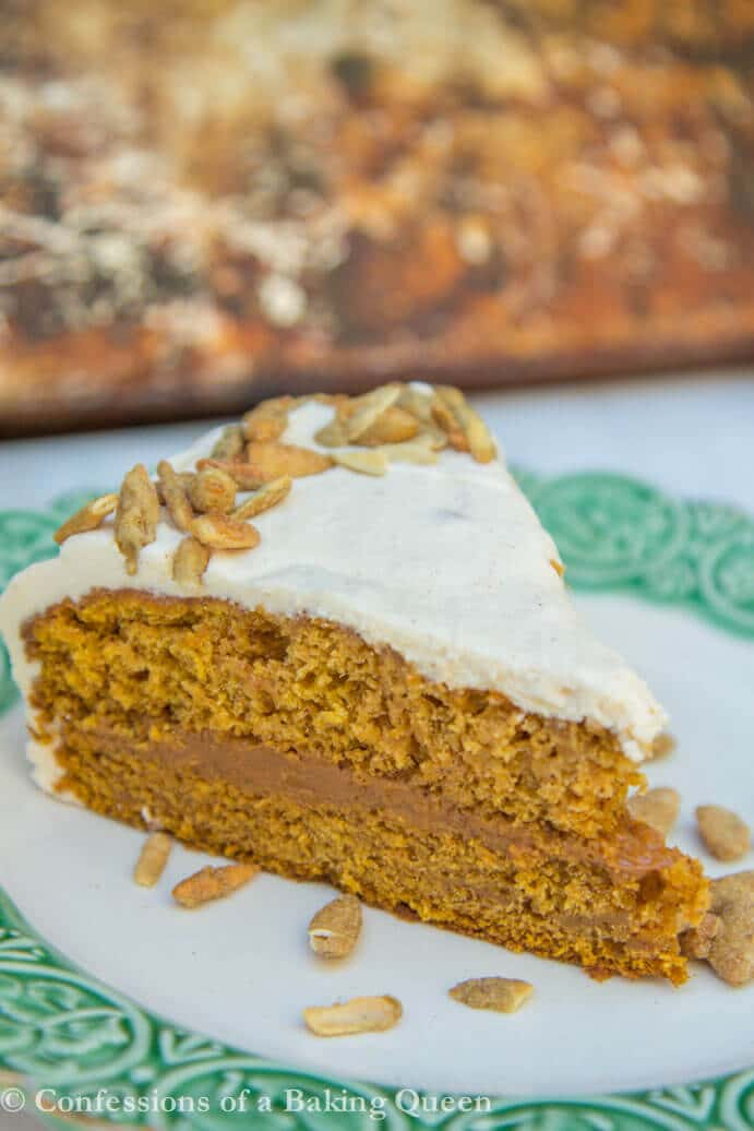Easy Brown Butter Pumpkin Cake Recipe www.confessionsofabakingqueen.com