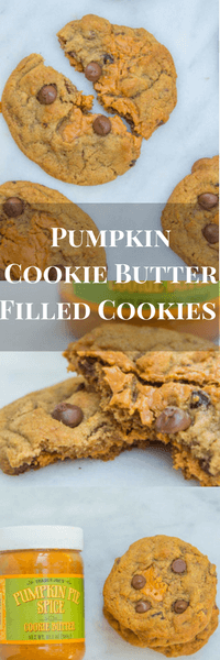 Pumpkin Chocolate Chip Cookie Butter Cookie Recipe www.confessionsofabakingqueen.com