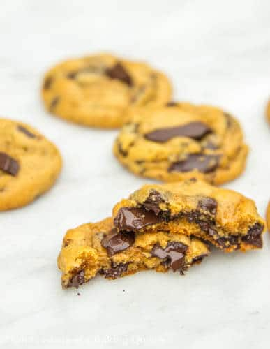 Chewy Pumpkin Chocolate Chunk Cookie Recipe www.confessionsofabakingqueen.com