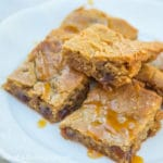 Sticky Toffee Pudding Blondies from Out of the Box Desserts www.confessionsofabakingqueen.com