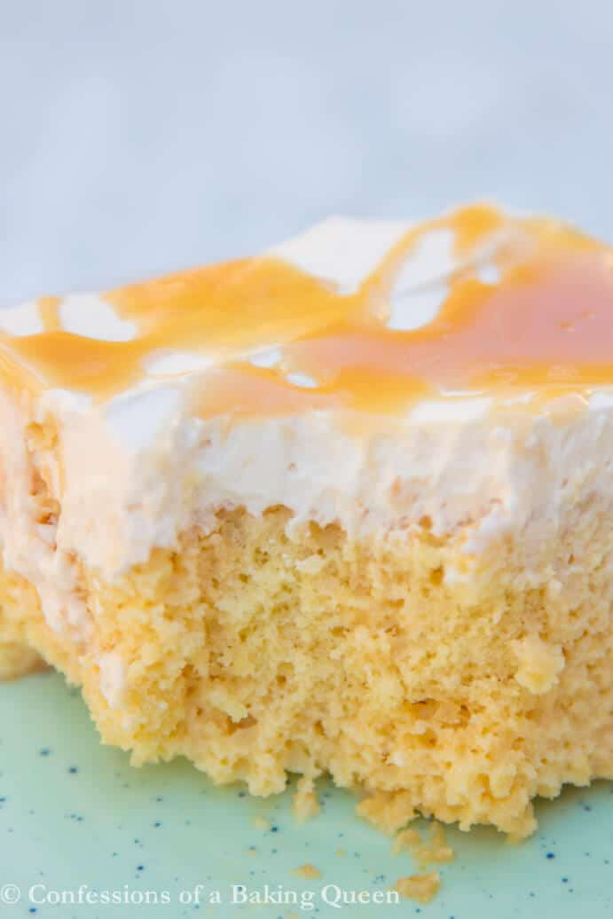 Salted Caramel Tres Leches Cake www.confessionsofabakingqueen.com