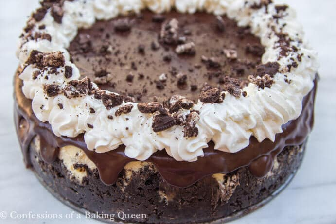 horizontal oreo cheesecake