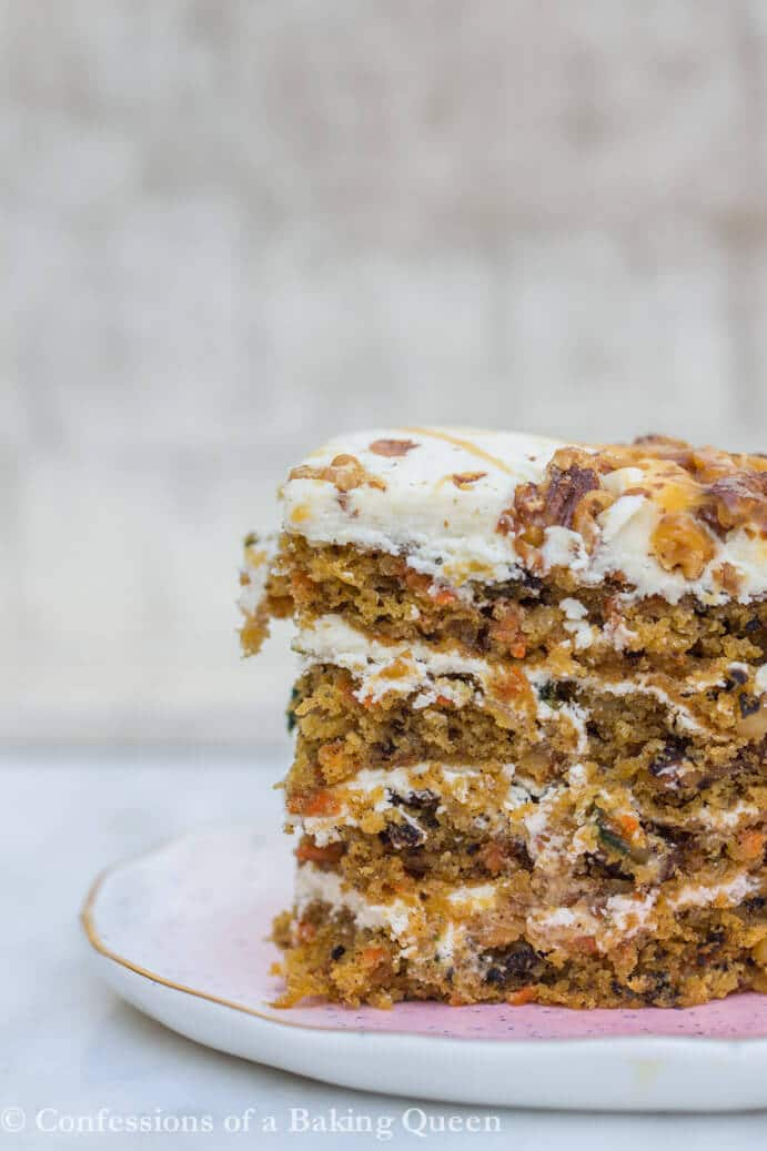 Carrot Layer Cake Recipe www.confessionsofabakingqueen.com