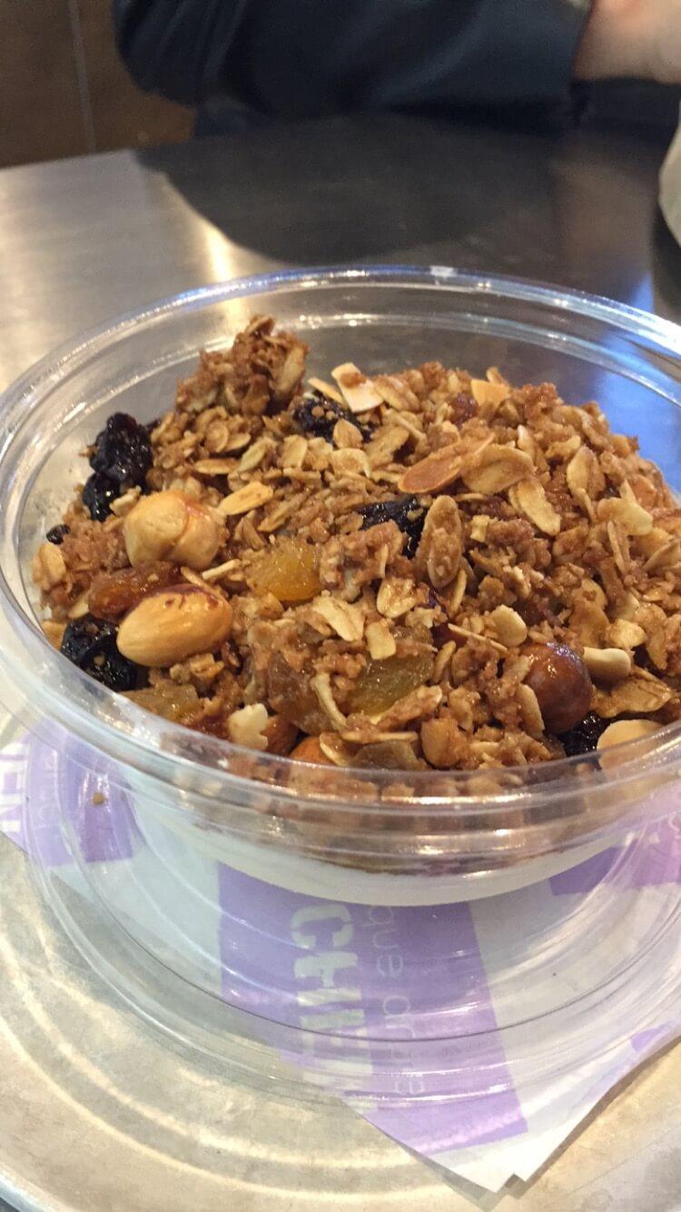 granola yogurt bowl from Domonique Ansel kitchen in new york