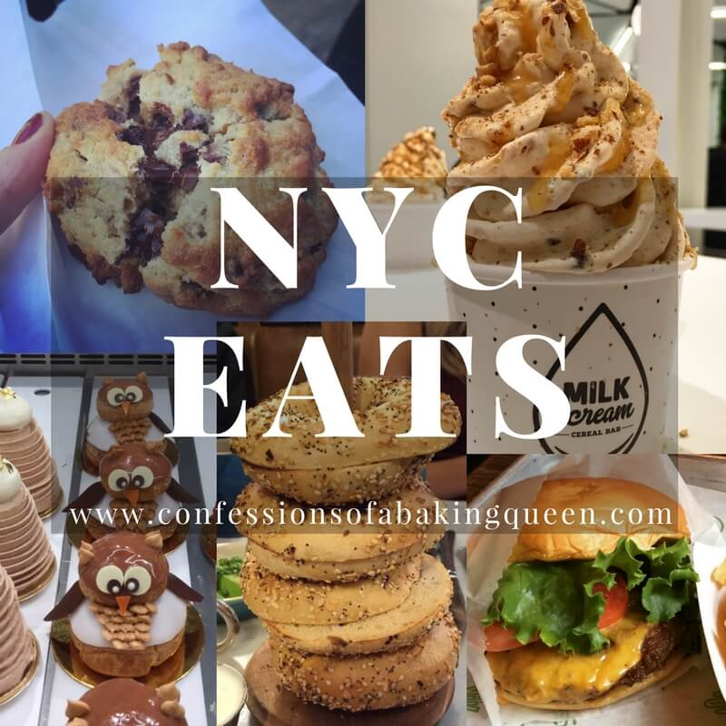 a collage of food you can eat in new york city
