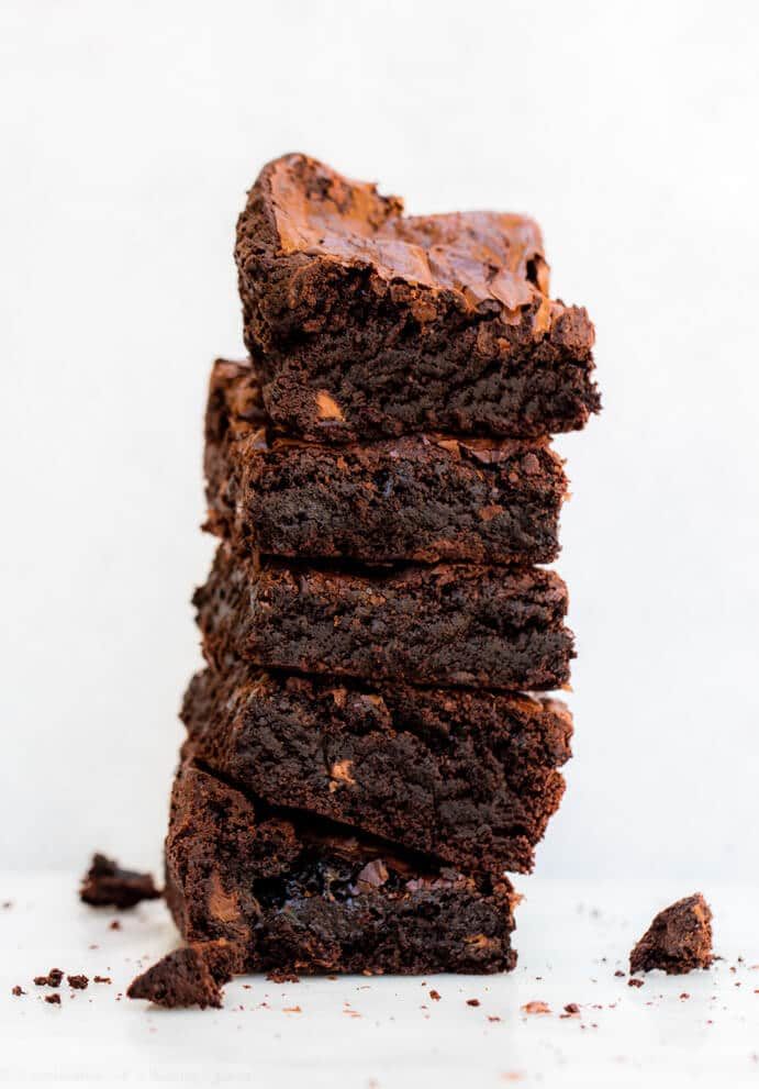 Thick & Chewy Brownies www.confessionsofabakingqueen.com