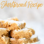 brown butter shortbread on a white plate