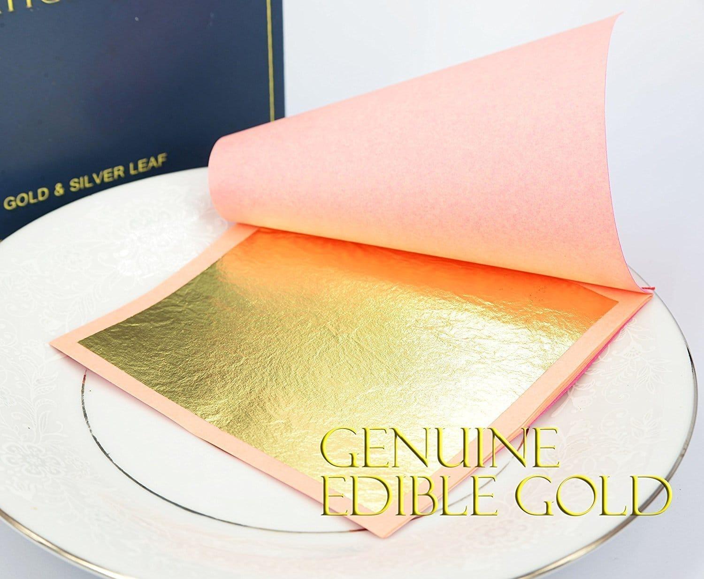 genuine edible gold leaf sheets