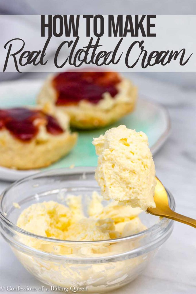 clotted cream in a glass bowl