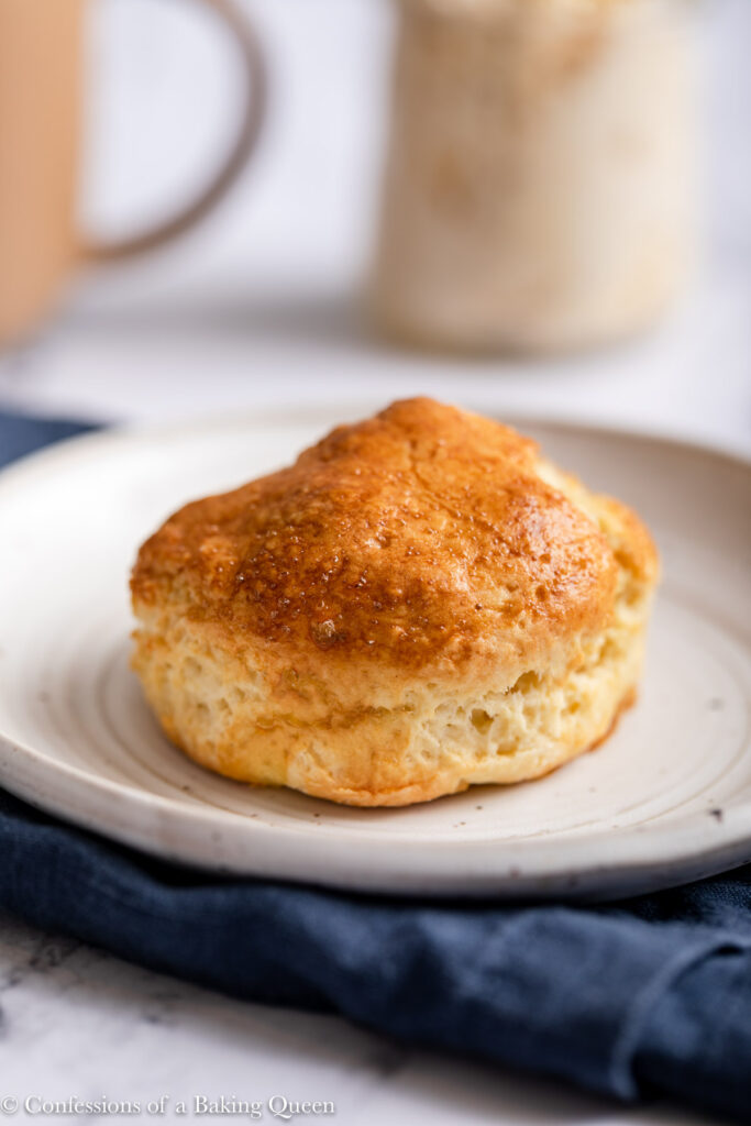 english scone on a white plate
