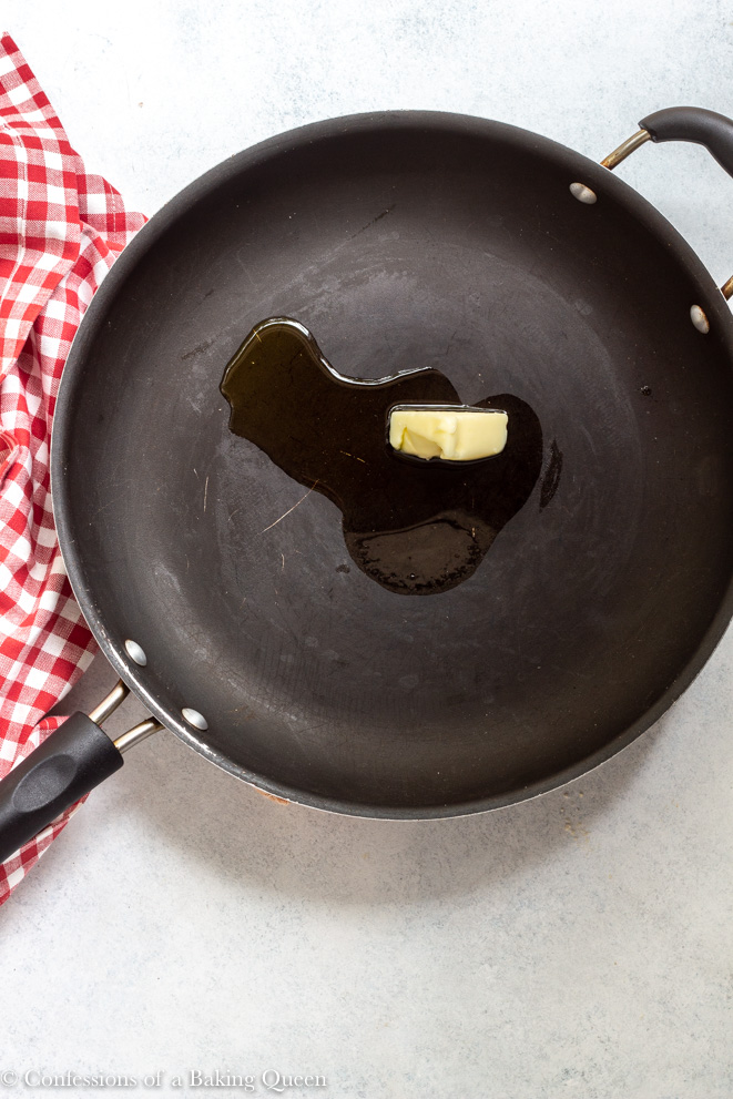 onion and olive oil a large skillet for a how to make french onion dip recipe