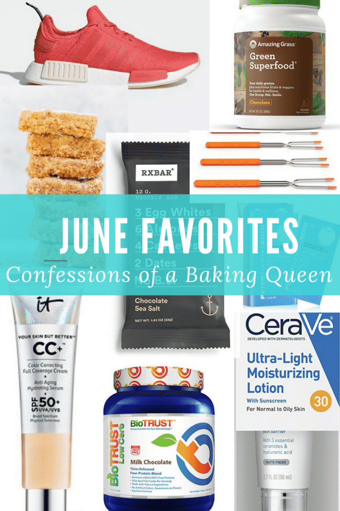 june favorites products collage