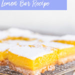 lemon bar recipe on a metal cooling rack