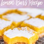 lemon bars on a wire rack