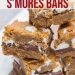 stack of cookie butter smores bars