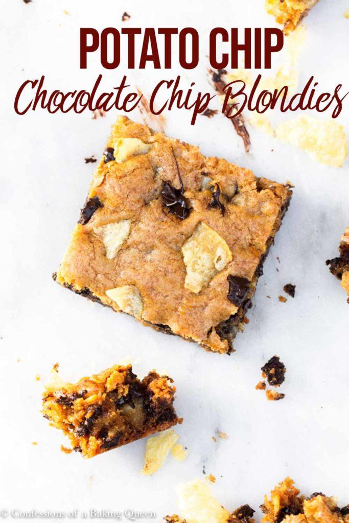 potato chip chocolate chunk blondies