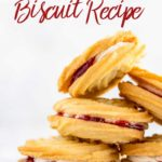 viennese whirls biscuit recipe stacked on top of each other