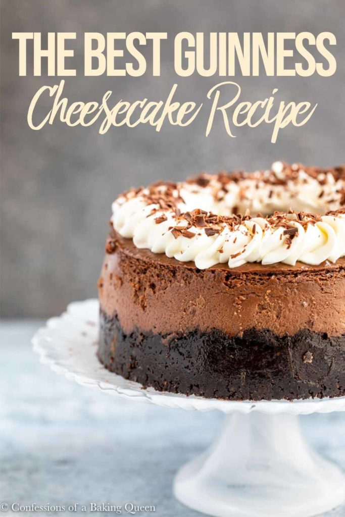 head on shot of guinness cheesecake