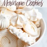 meringue cookies in a white bowl