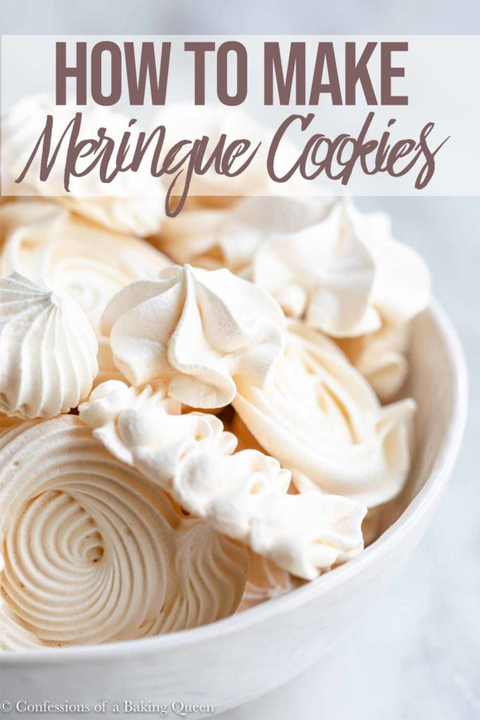 meringue cookies in a white bowl