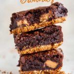 stacks of pretzel brownies