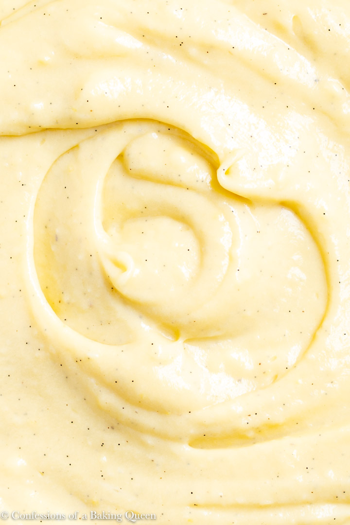 close up of pastry cream
