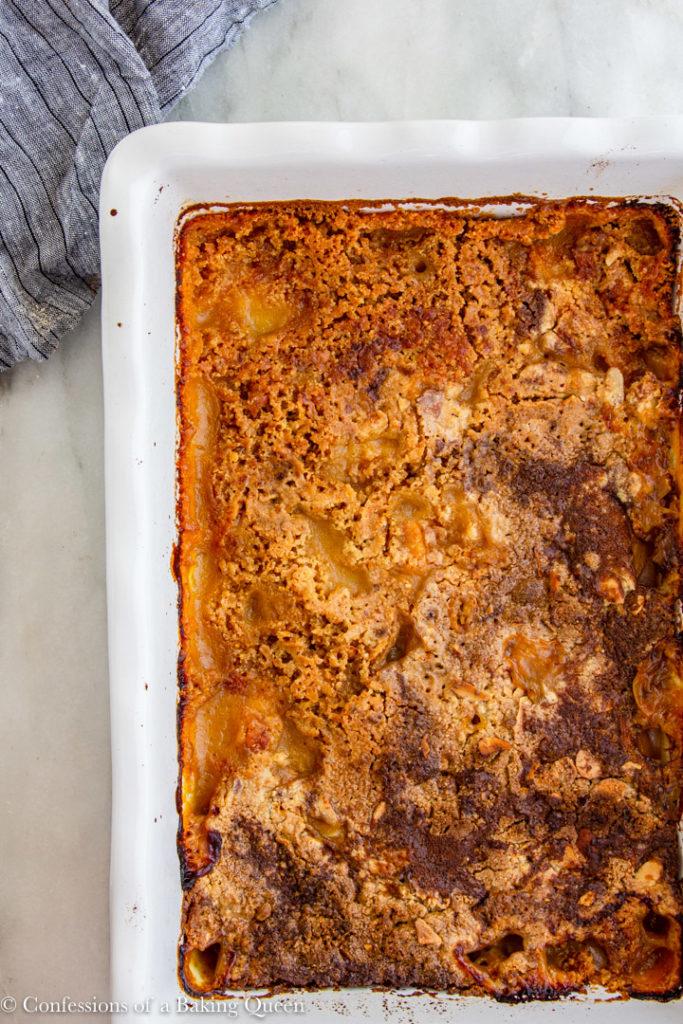 baked peach dump cake
