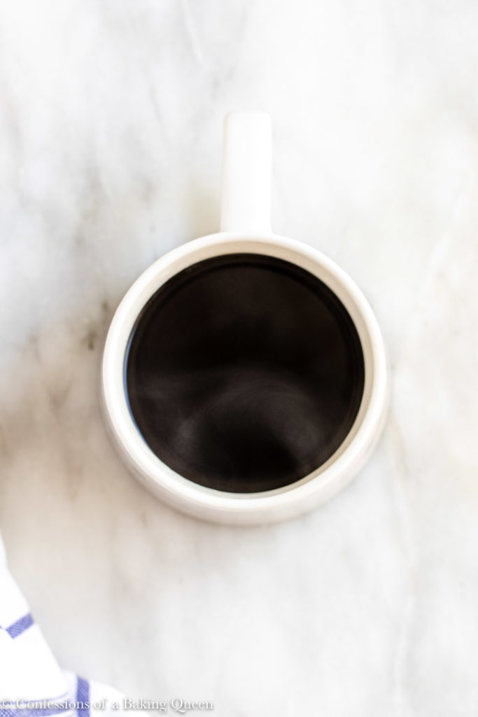 cup of coffee on marble surface