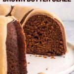inside of gingerbread bundt cake
