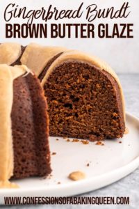 inside of gingerbread bundt cake