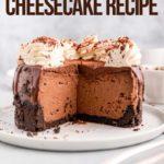 inside of chocolate cheesecake