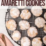 amaretti cookies cooling on a wire rack