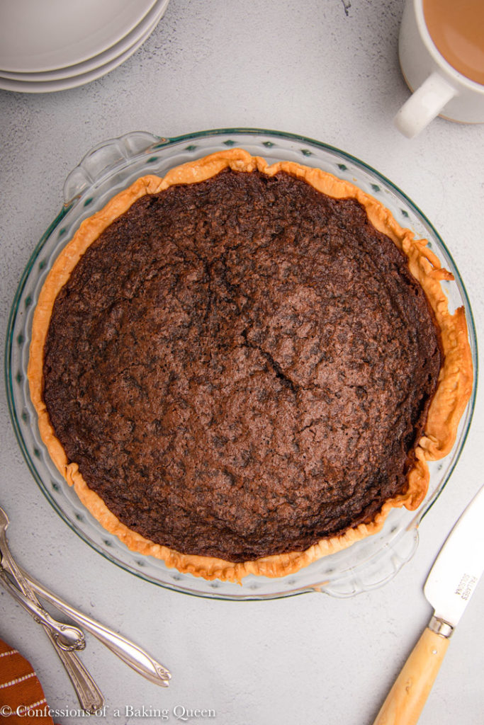 just baked chocolate chess pie