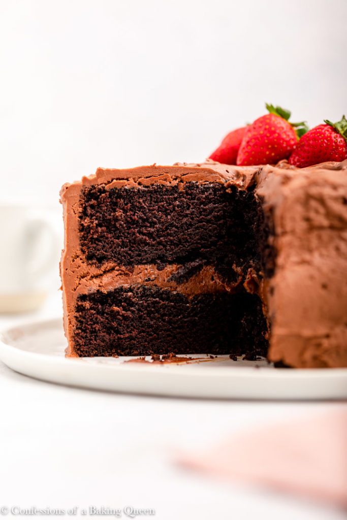 inside view of the best chocolate cake recipe