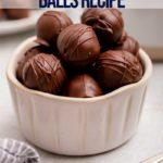 small bowl of peanut butter balls