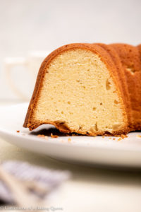inside view of cream cheese pound cake