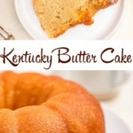 kentucky butter cake on a white plate