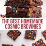 overhead shot of cosmic brownies