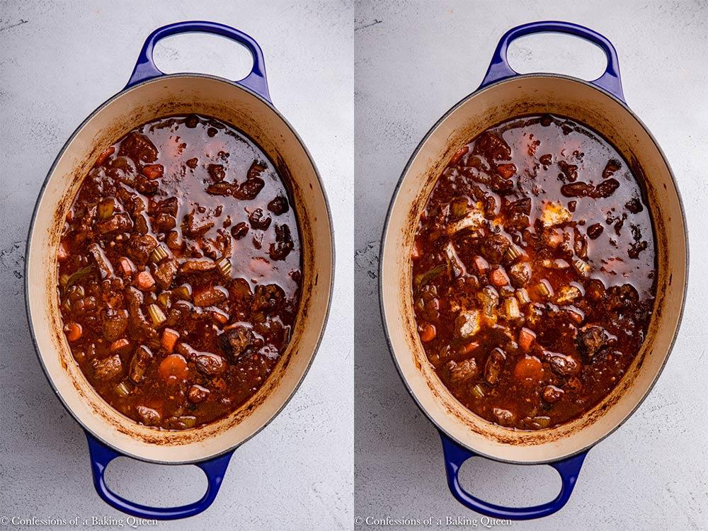 irish stew with cornstarch slurry added