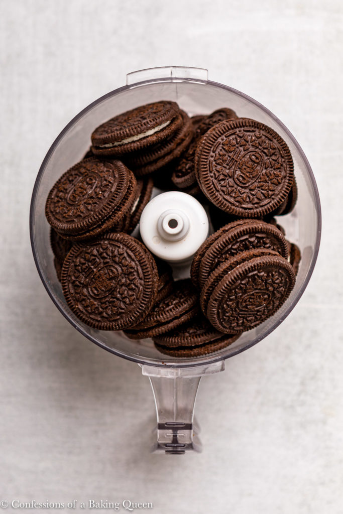 oreo cookies in a food processor