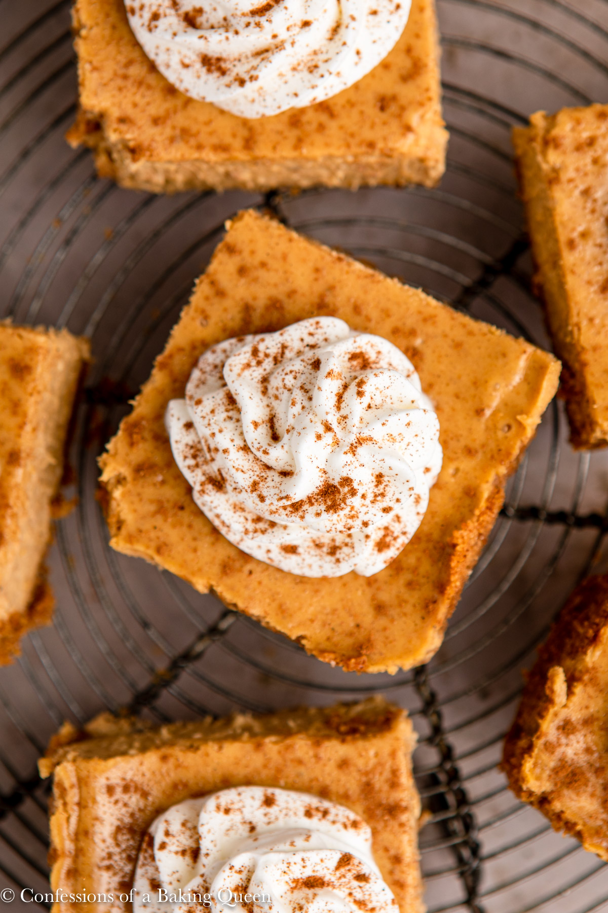 Pumpkin Cheesecake Bars Confessions Of A Baking Queen