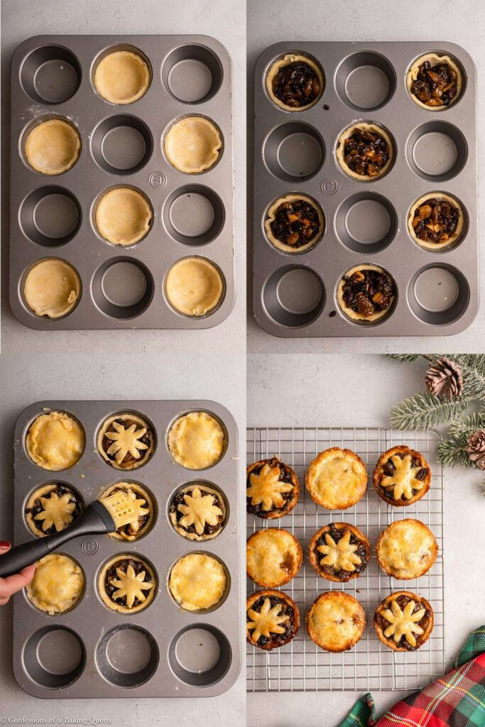 cupcake size mince pies being made
