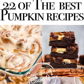 six pictures of pumpkin dessert recipes